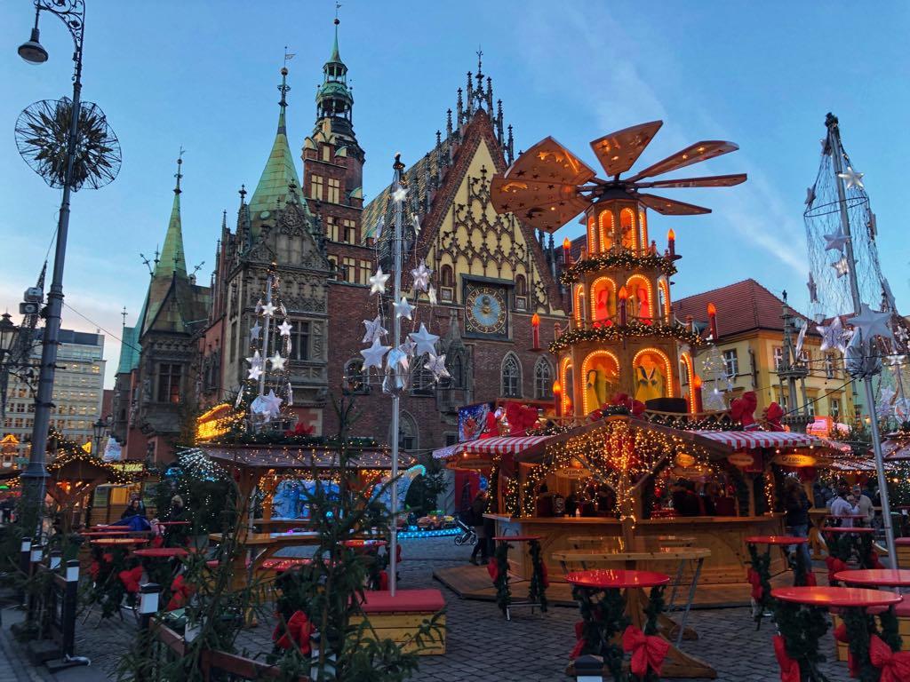 podróże, Wrocław, jarmark świąteczny we Wrocławiu