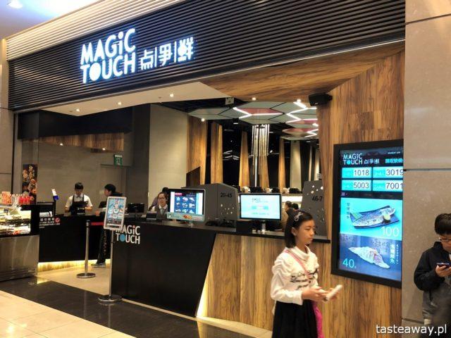 Tajwan, sushi na Tajwanie, Nangang Station, Magic Touch, co jeść na Tajwanie