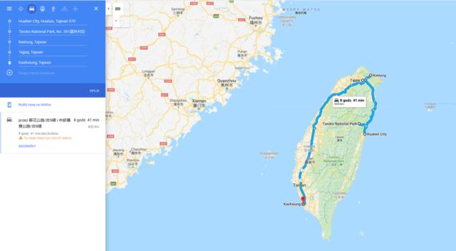 Tajwan, trasa, co zobaczyć na Tajwanie
