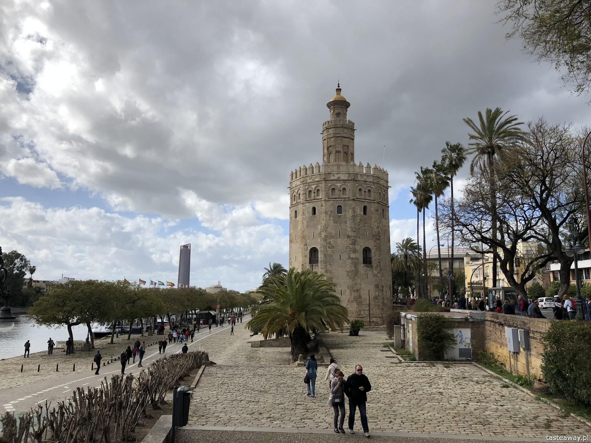 Sewilla, Sevilla, co zobaczyć w Sewilli, Sevilla w jeden dzień, Andaluzja, miasta Hiszpanii, spacer po Sevilli, Torre del Oro