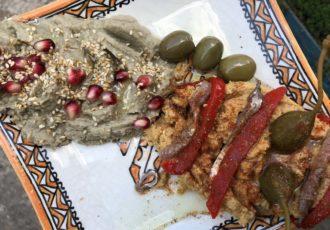 Maghreb, kuchnia marokańska, kuchnia marokańska w Warszawie, gdzie jeść na Żoliborzu, Burakowska, baba ganoush, hummus,