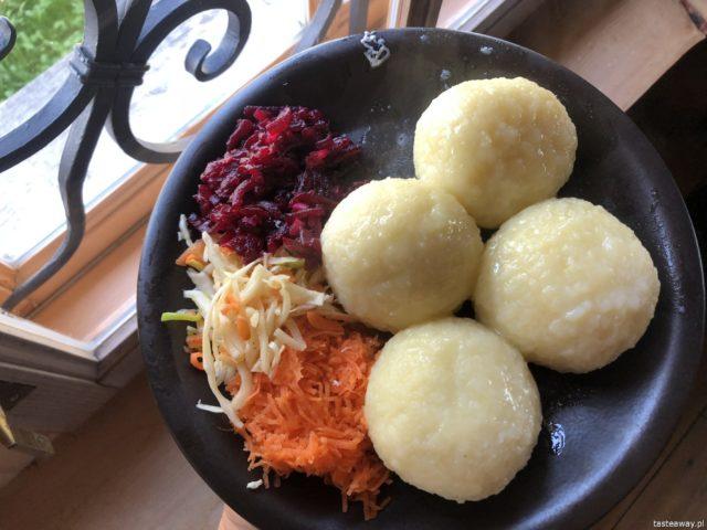 Pietraszówka, Stare Juchy, Pietrasze, gdzie jeść na Mazurach, gdzie na kartacze, kartacze, ruskie, knedle z farszem z pieczonej kaczki