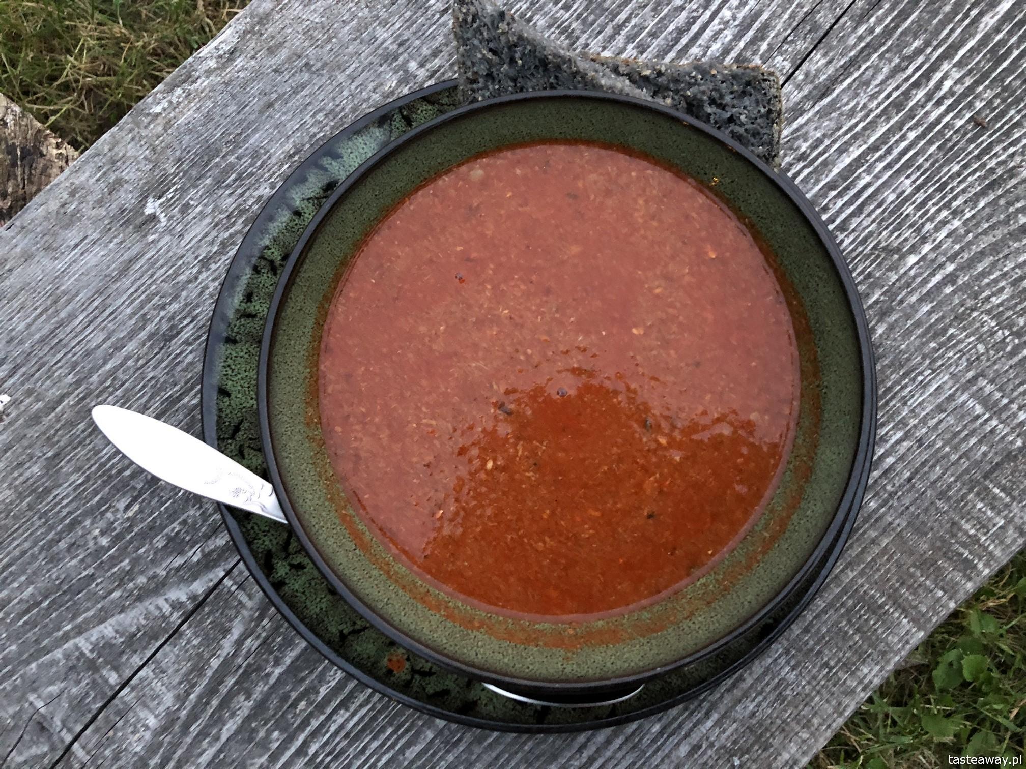 Karczma Stara Kuźnia, Folwark Przykop, Mazury, gdzie jeść na Mazurach, ostra zupa z mazurskich ryb, zupa rybna, najlepsze restauracje na Mazurach