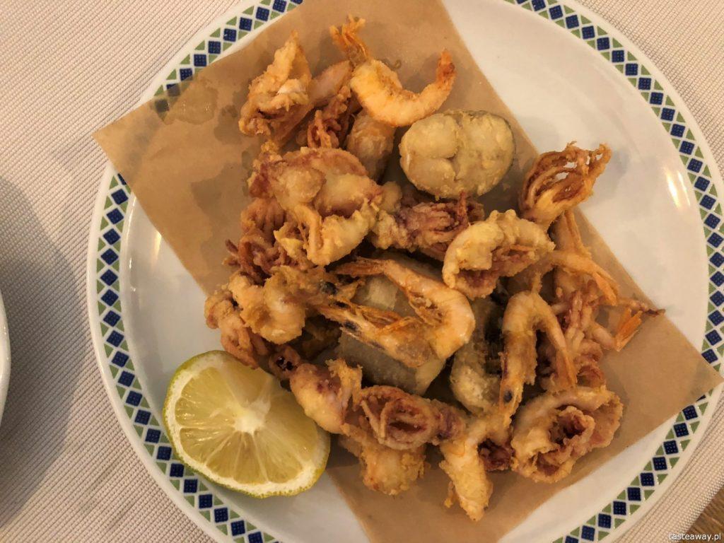 Włochy, Gallipoli, co jeść w Gallipoli, makarony, makaron z owocami morza, Le Nasse, podróże z dziećmi