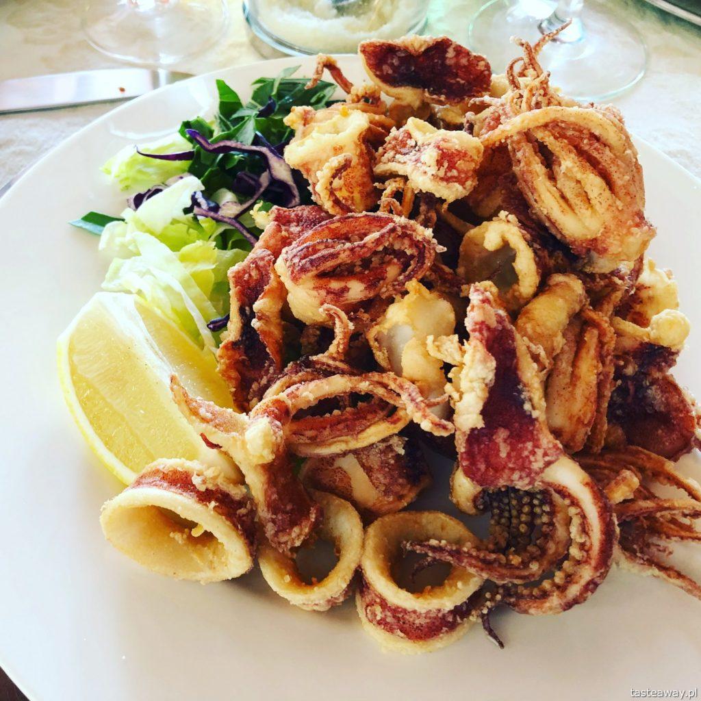 Włochy, Gallipoli, co jeść w Gallipoli, makarony, makaron z owocami morza, La Puritate