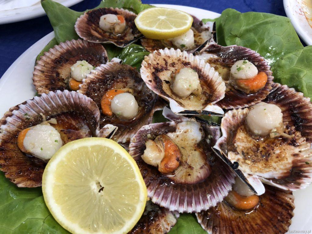 co jeść na północy Hiszpanii, co jeść w Asturias, co jeść w Galicji, mule, mejillones al vapor, kuchnia hiszpańska, tapas, owoce morza, zamburinas