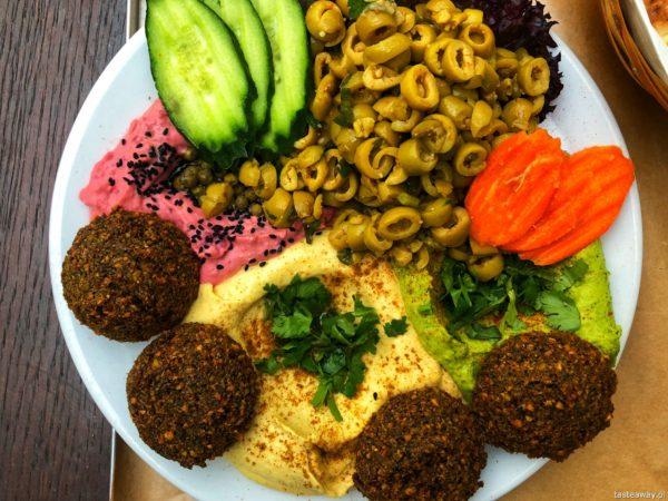 Mezze, gdzie na lunch, Warszawa, Mokotów hummus, falafel, gdzie na hummus