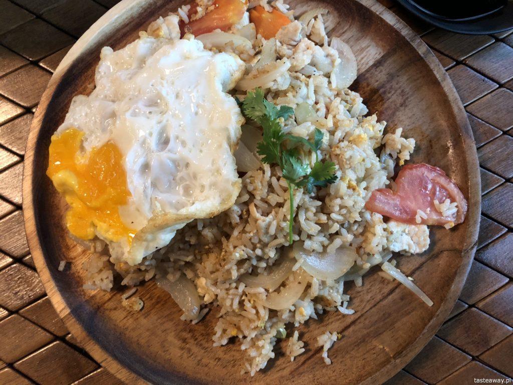 kuchnia tajska, kuchnia tajska w Warszawie, gdzie na tajskie, ryż smażony z kurczakiem, Koh Phangan
