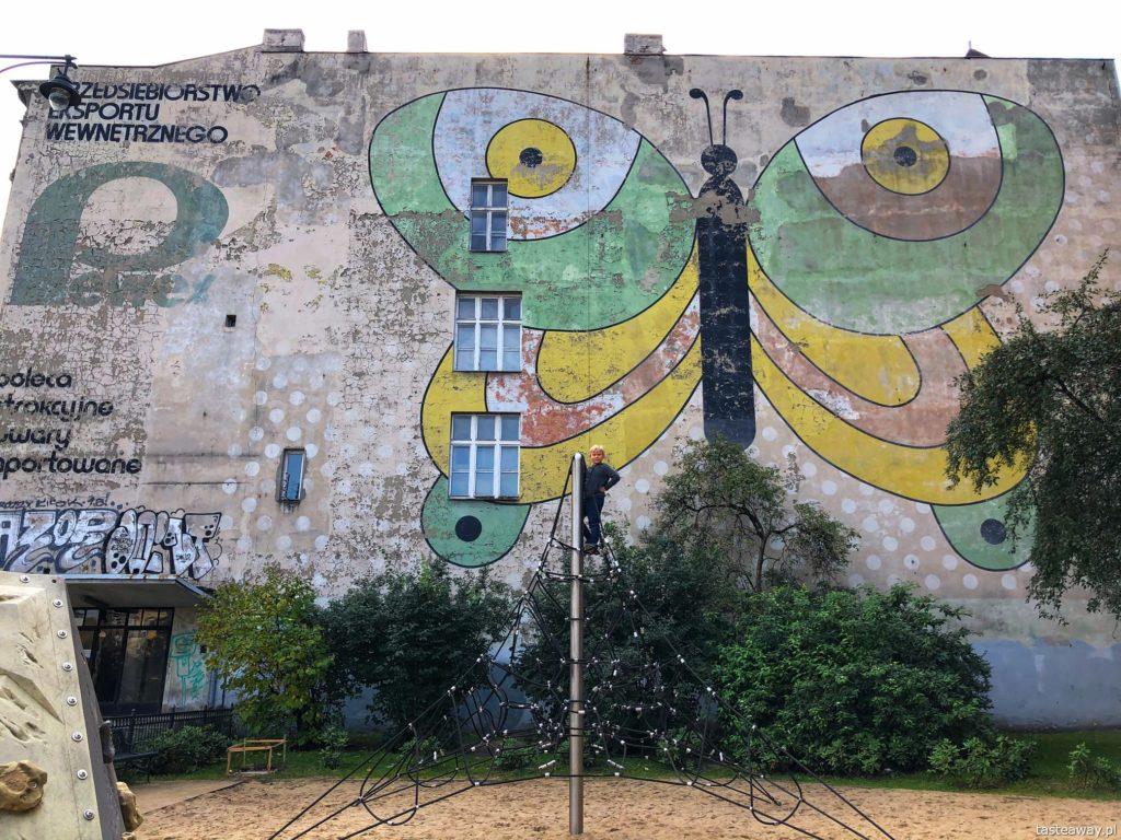 Łodź, co zobaczyć w Łodzi, atrakcje Łodzi, Łódź z dziećmi, murale, mural Pewexu