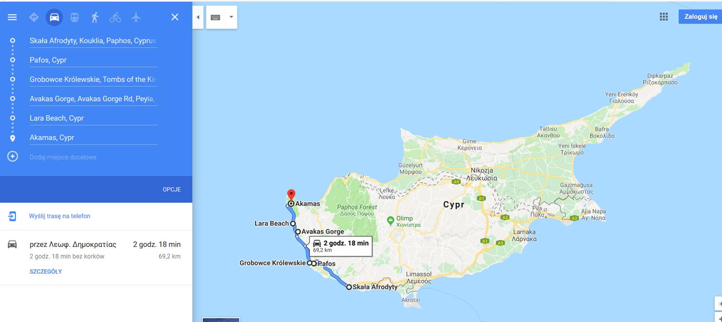 Cypr_PAFOS i OKOLICE_mapa