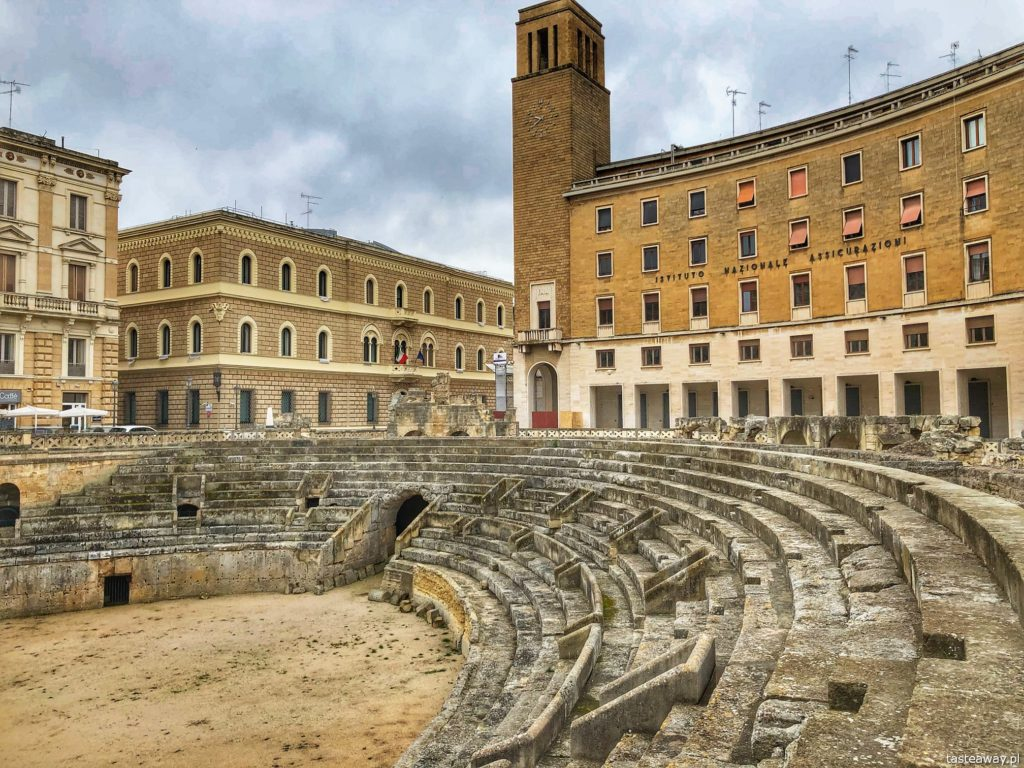 Lecce anfiteatro romano przy Piazza Sant Oronzo