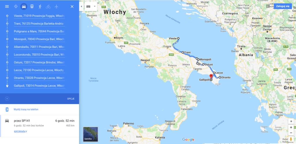 mapa APULIA