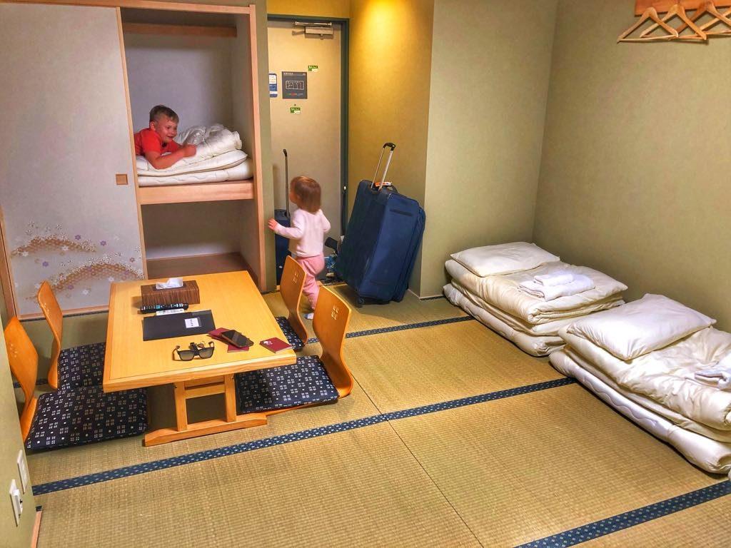 Tokio z dziećmi-nocleg