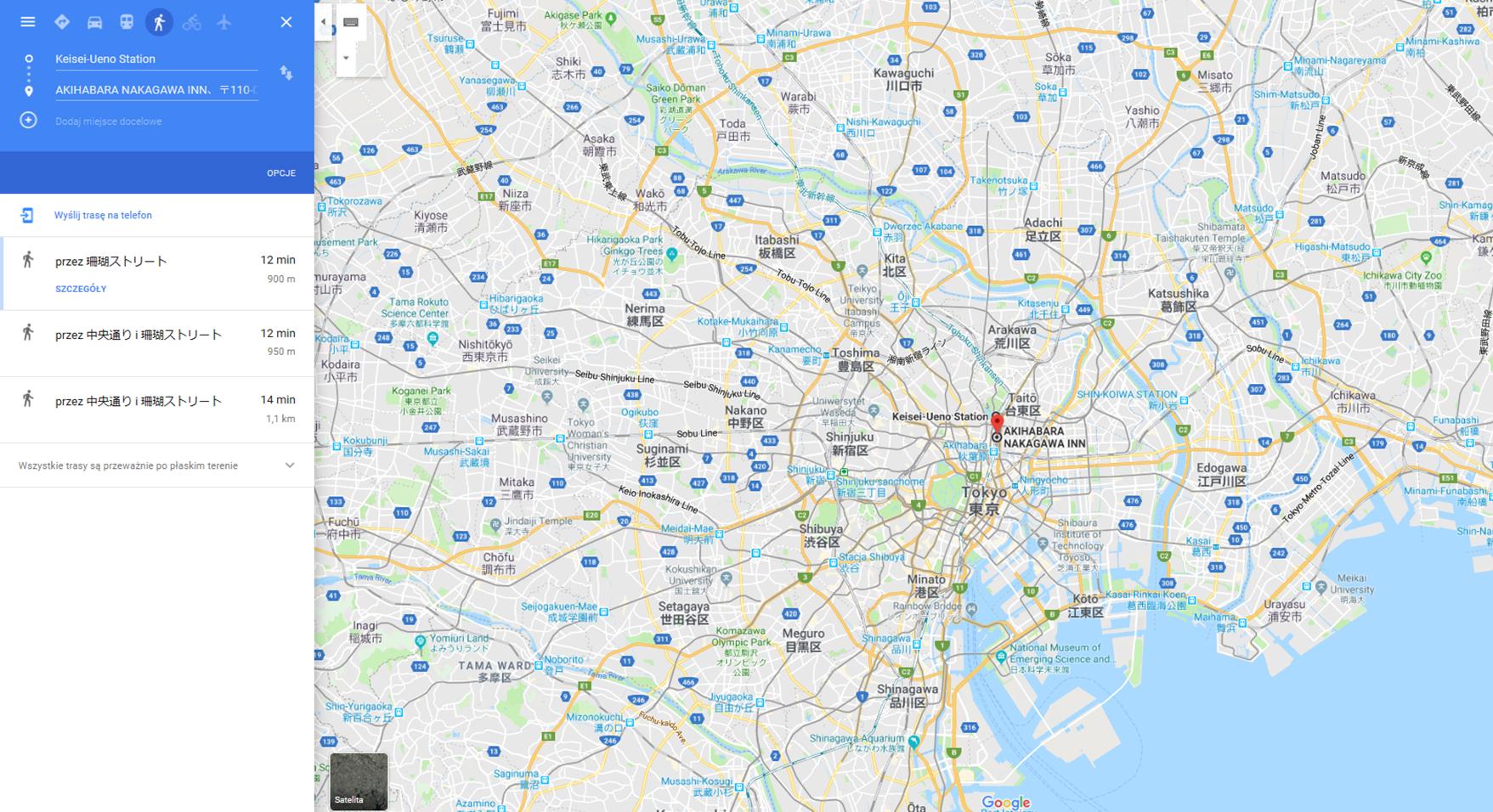 nocleg-w-tokio-mapa