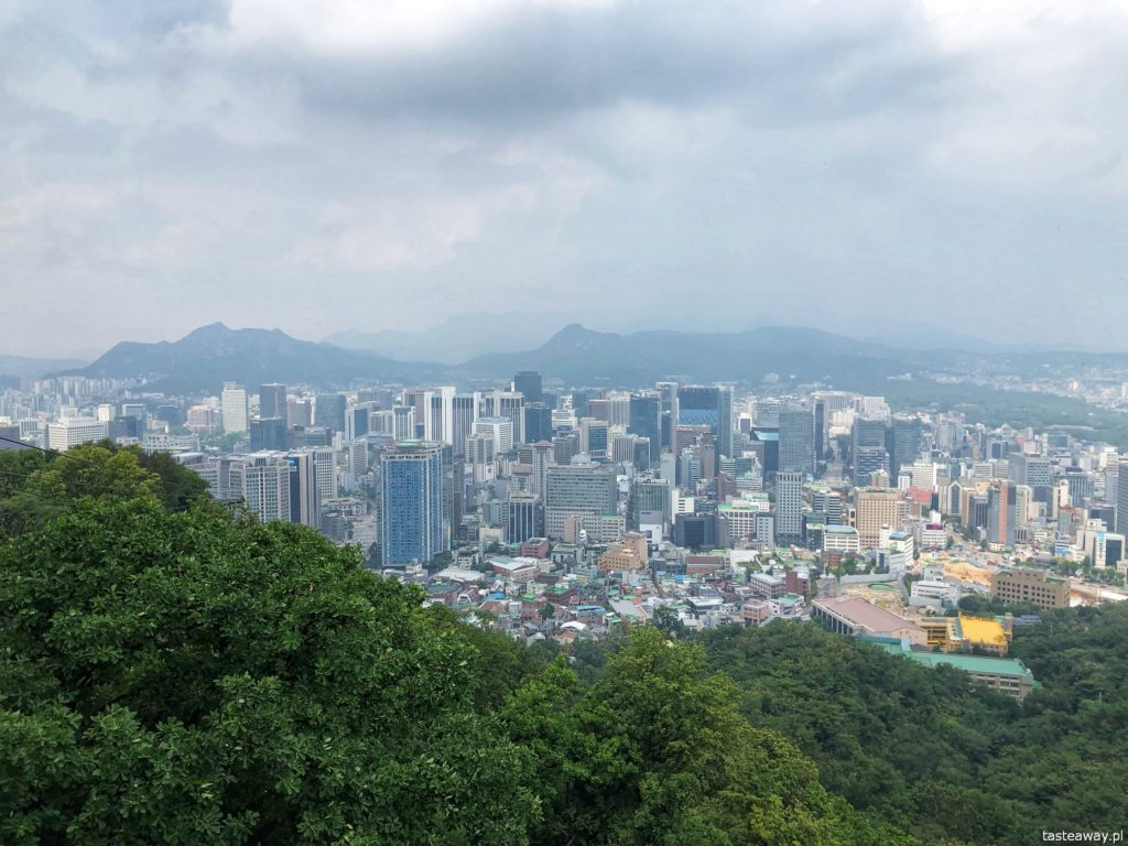 N Seoul Tower widok z cable car
