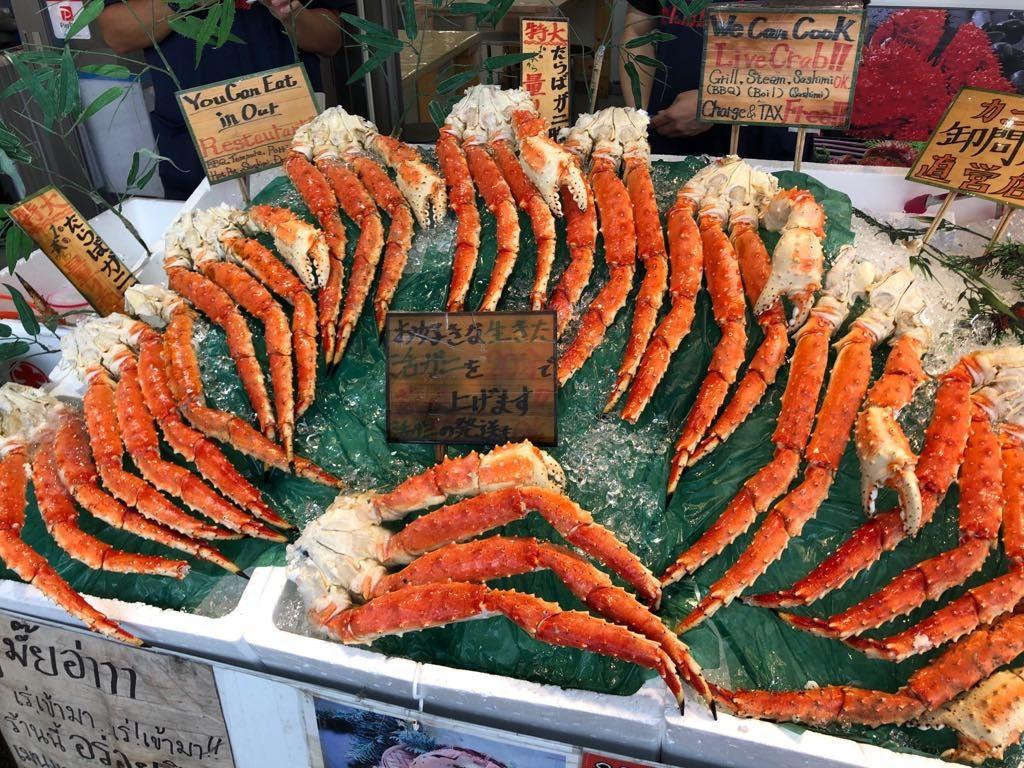 kraby na targu rybnym