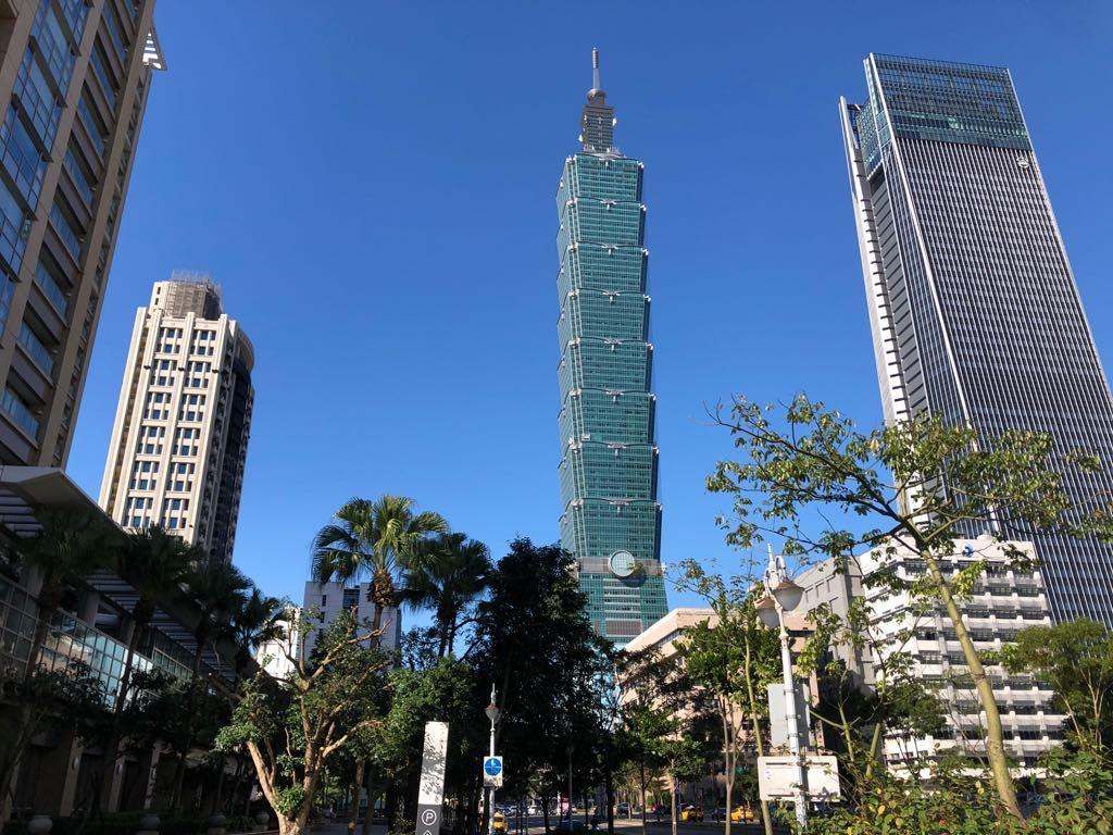 widok na Taipei 101