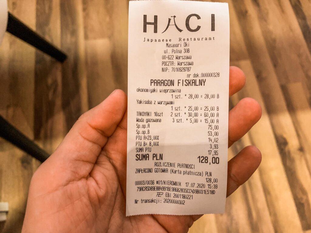 rachunek_Haci Okonomiyaki