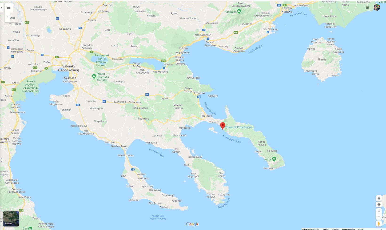 mapa Uranupoli