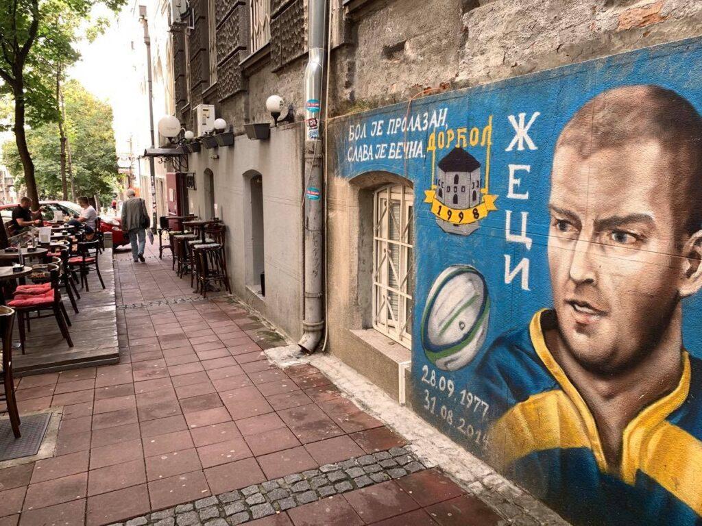 murale w Belgradzie