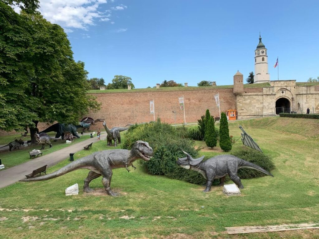 park dinozaurów_Kalemegdan
