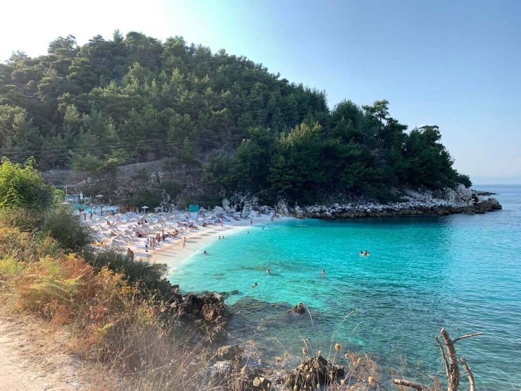 plażowanie Marble Beach_Thassos