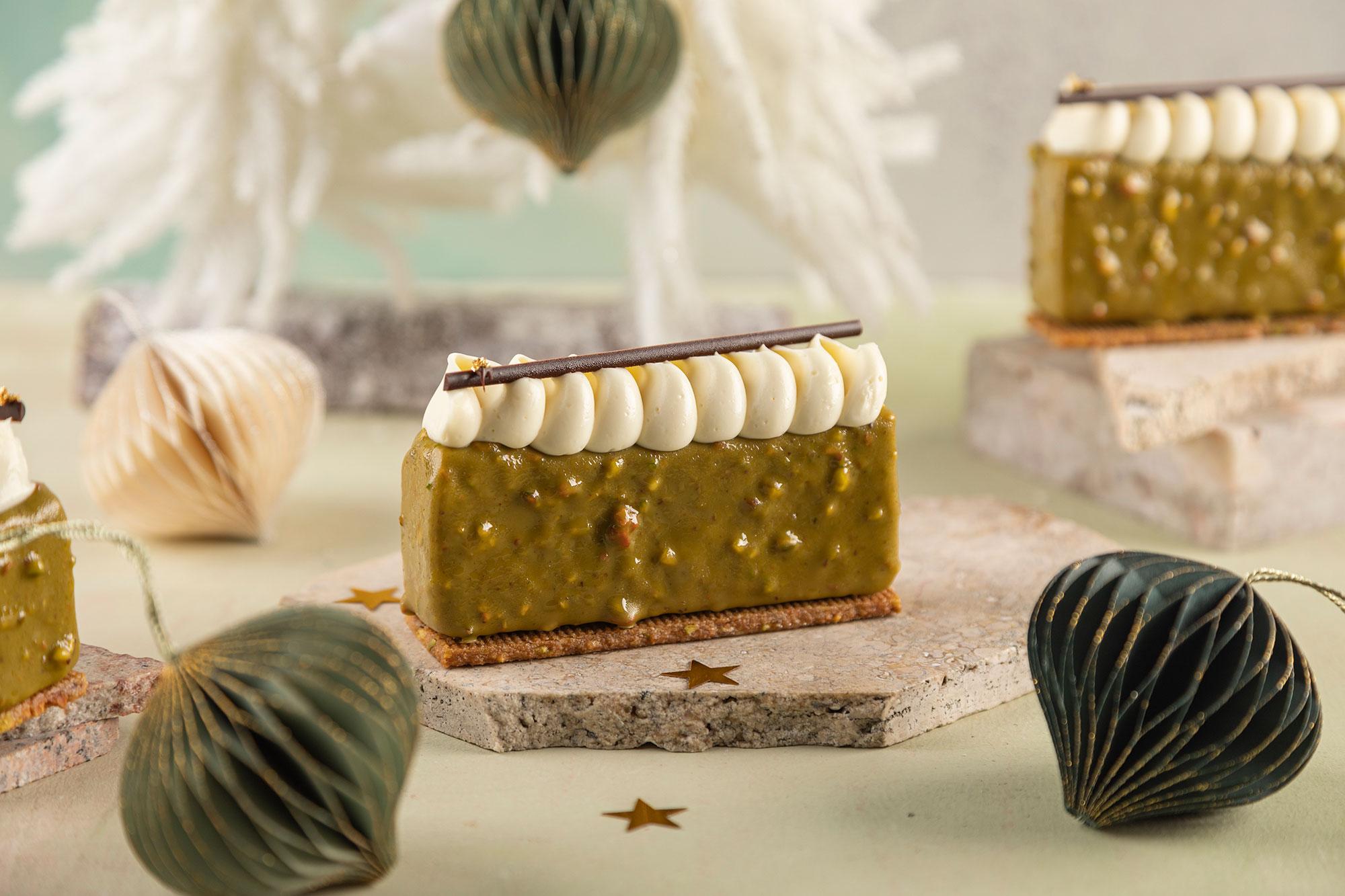 ciastka DESEO, ciastka świąteczne DESEO, sernik pistacjowy, Pistachio Cheesecake