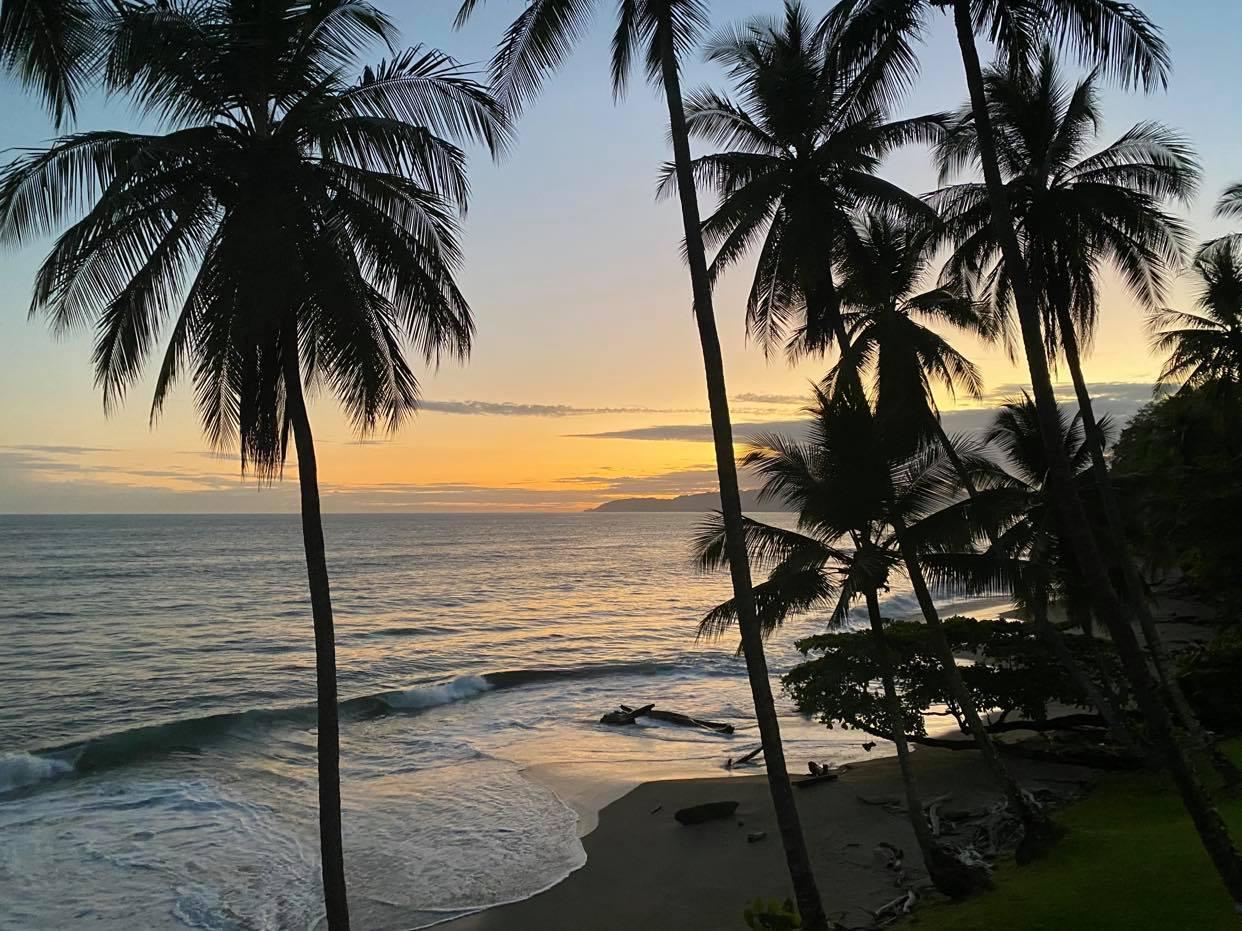 Tango Mar_zachód słońca_widok z okna