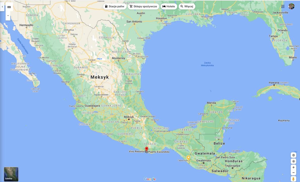 mapa Puerto Escondido