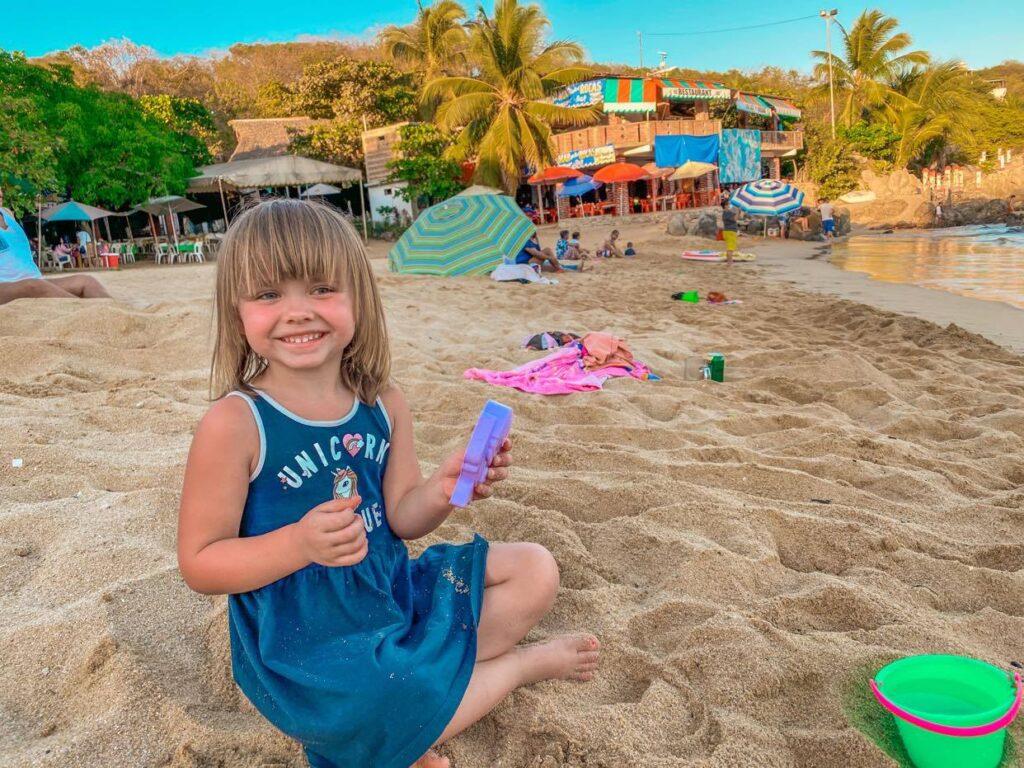 plażowanie Puerto Angelito