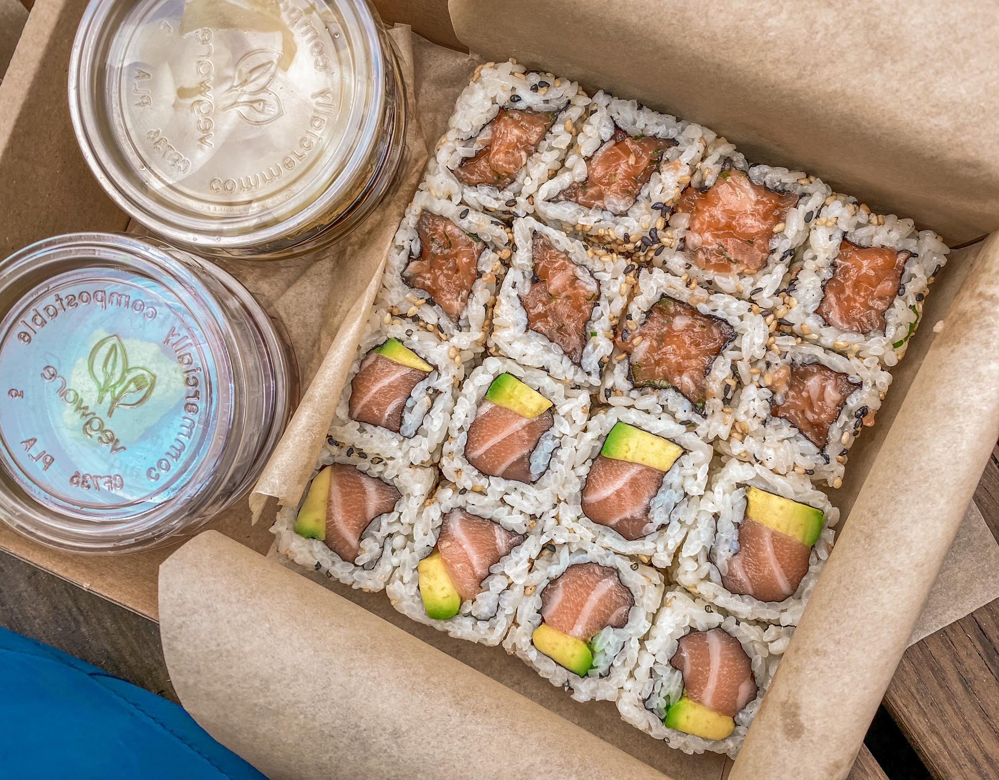 salmon and tatar set