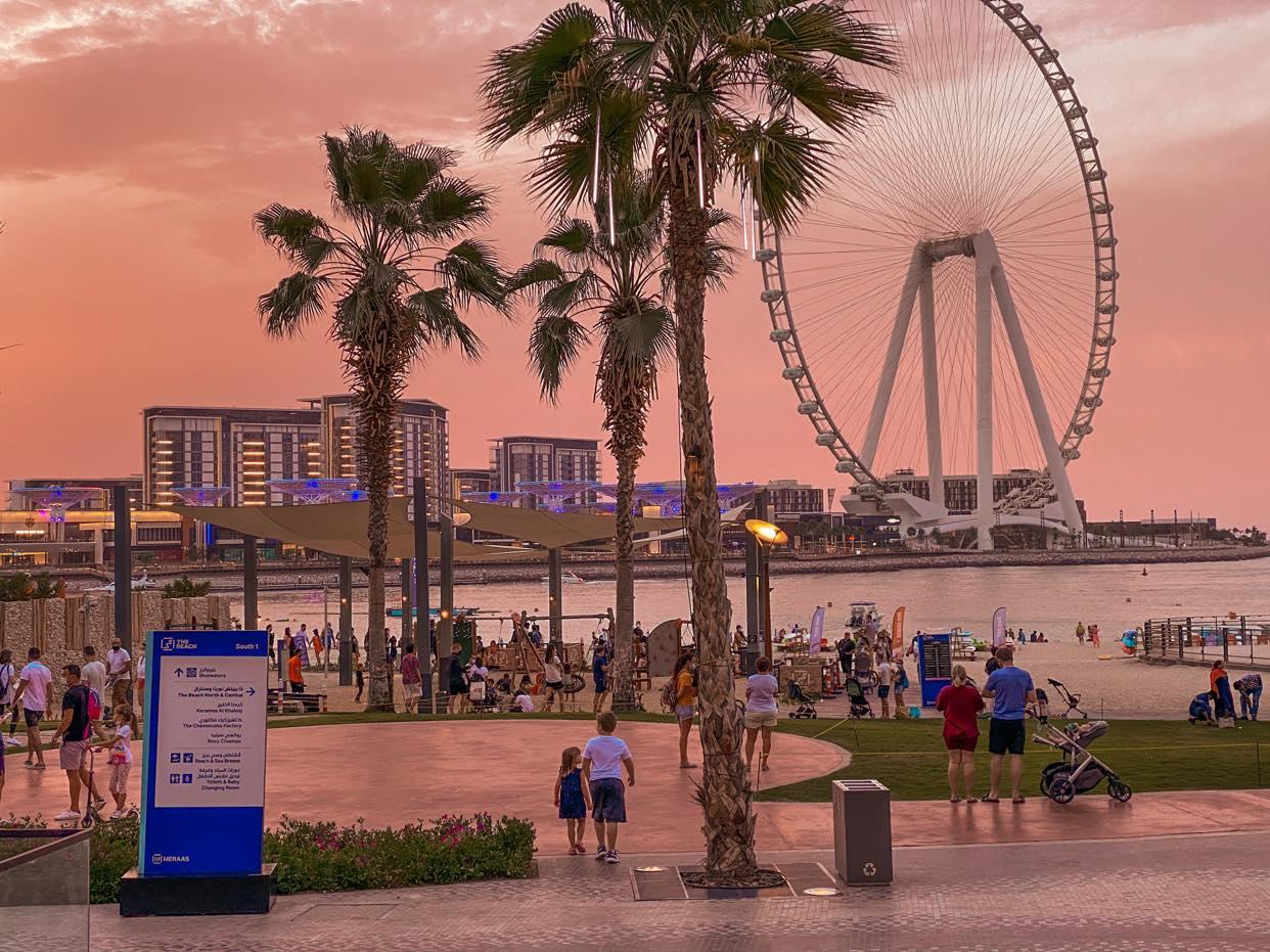 Dubaj wieczorową porą