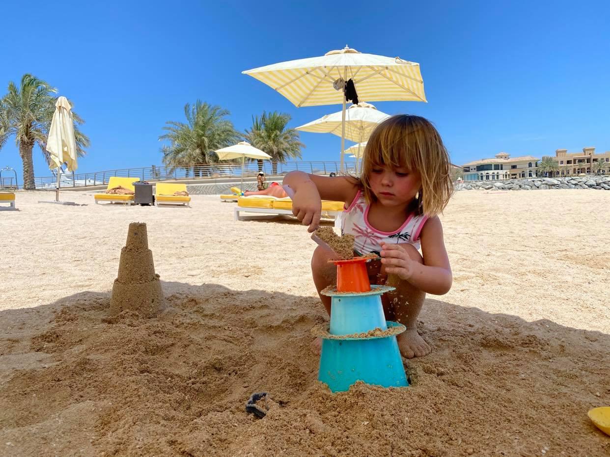 plażowanie na Palm Jumeirah
