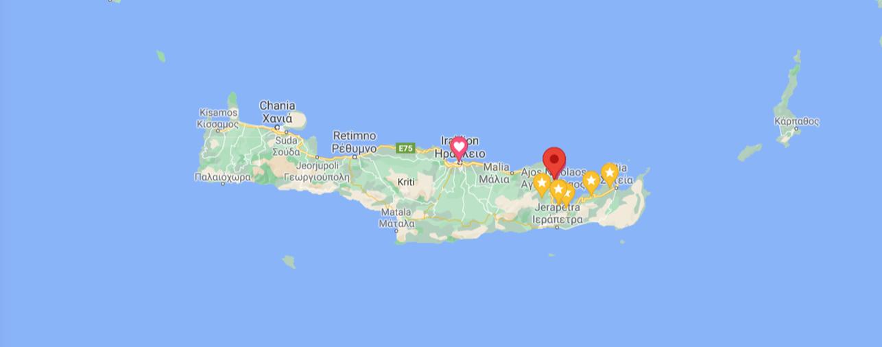 Mapa Elounda