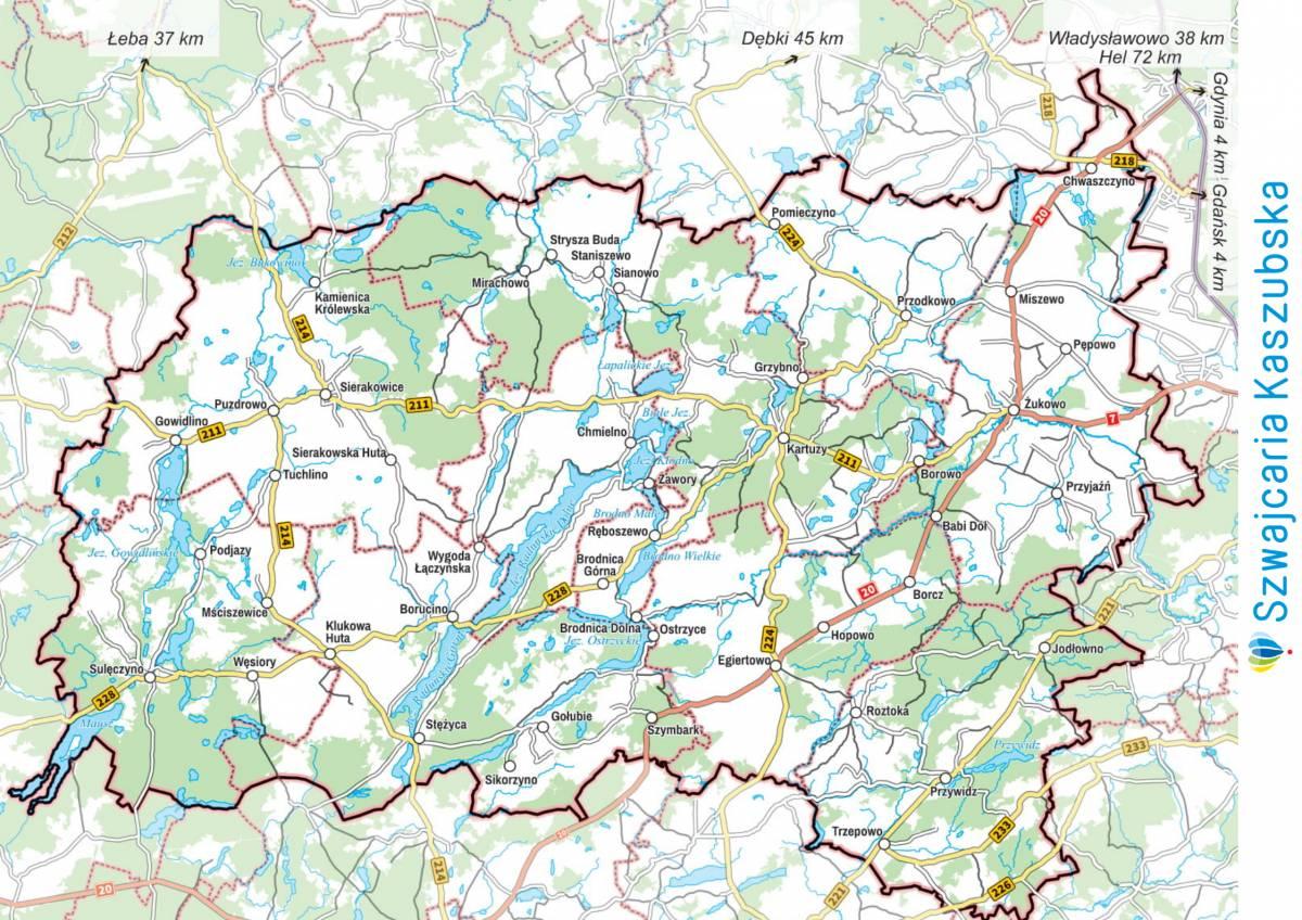 Szwajcaria Kaszubska_mapa