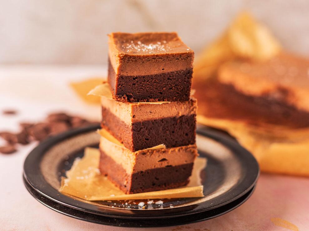 brownie, sernik gianduja